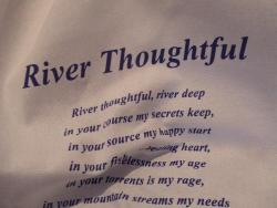 River Thoughtful Tea Towel