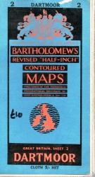 Bartholomew 's Map Dartmoor No. 2