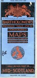 Bartholomew's Map Mid-Scotland No. 45